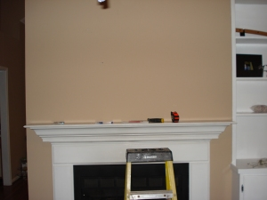 Above Fireplace - Before