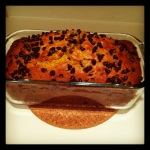 Pumpkin Chocolate Chip Bread, it's amazing.